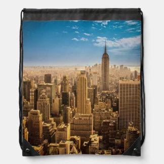 New York Drawstring Bag