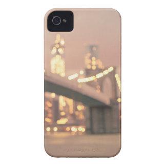 New York - Dreamy Bokeh Brooklyn Bridge iPhone 4 Cases