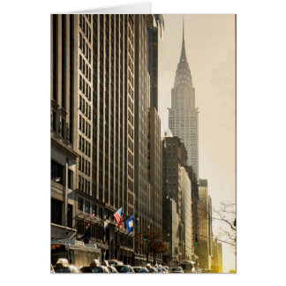 New York, E 42 St and Chrysler Building Card