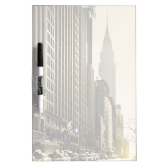 New York, E 42 St and Chrysler Building Dry Erase Board