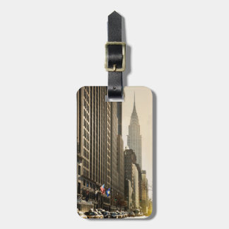 New York, E 42 St and Chrysler Building Luggage Tag