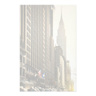 New York, E 42 St and Chrysler Building Stationery