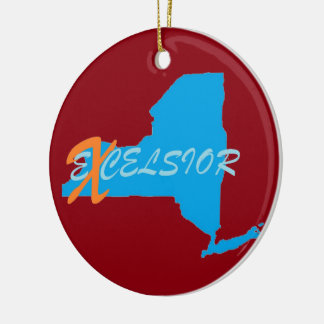 New York excelsior Circle Ornament