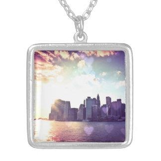 New York Fairy Tale - Rainbow Heart Bokeh Pendant
