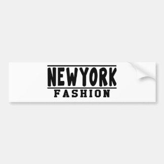 New York Fashion Designs Bumper Stickers