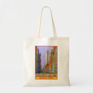 New York Fifth Avenue Retro Vintage Travel Poster