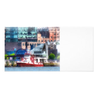New York Fire Boat Personalized Photo Card