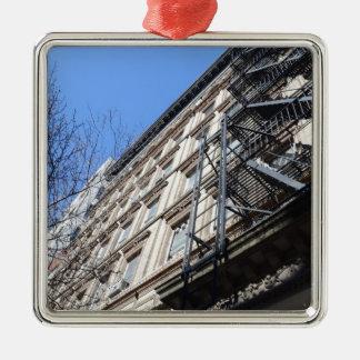 New York Fire Escape Christmas Ornament