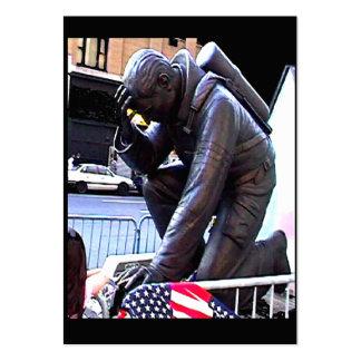 New York Fireman Art 2009~1 jGibney Trading Card Pack Of Chubby Business Cards
