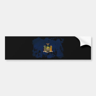 New York Flag Bumper Sticker