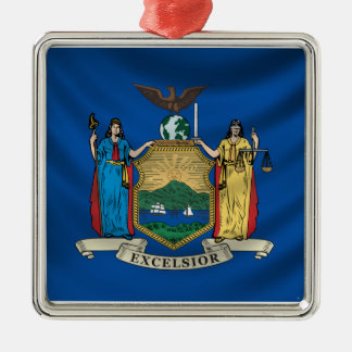 New York Flag Christmas Ornament