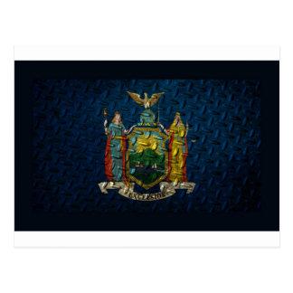 New York Flag Diamond Plate Postcard