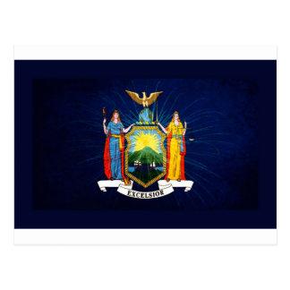 New York Flag Fireworks Postcard