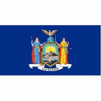 New York Flag Keychain Cut Out