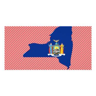 New York Flag Map Card
