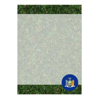 New York Flag on Grass 13 Cm X 18 Cm Invitation Card