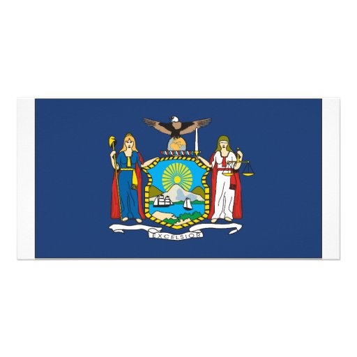 New York Flag Photo Card