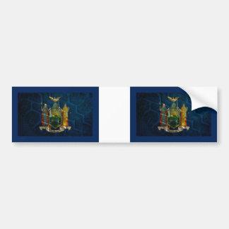 New York Flag State pride Bumper Sticker