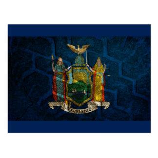 New York Flag State pride Postcard