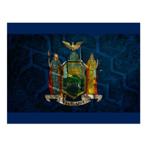 New York Flag State pride Post Cards