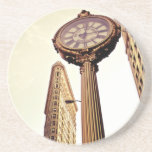 New York - Flatiron Building and Clock Beverage Coasters