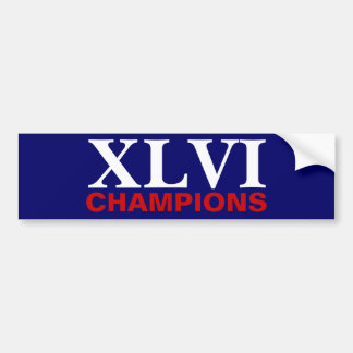 New York Football Champions Bumper Sticker