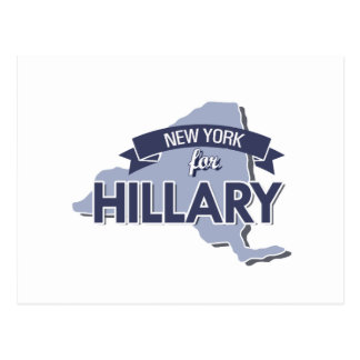 NEW YORK FOR HILLARY -.png Postcard