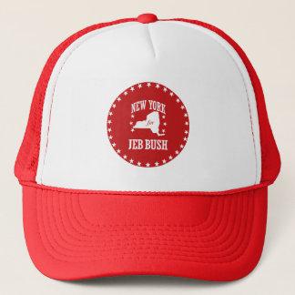 NEW YORK FOR JEB BUSH TRUCKER HAT
