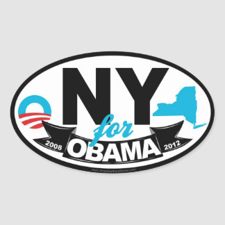 New York For Obama 2012 Stickers