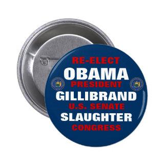 New York for Obama Gillibrand Slaughter 6 Cm Round Badge