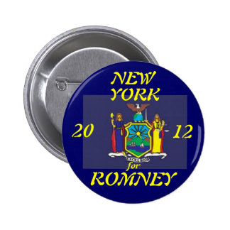 New York for Romney 2012 6 Cm Round Badge