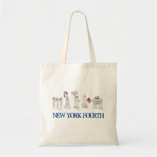 New York Fourth NYC 4th of July Patriotic USA Tote