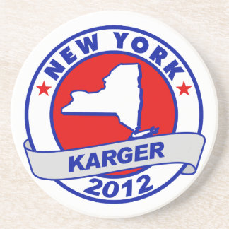New York Fred Karger Beverage Coasters