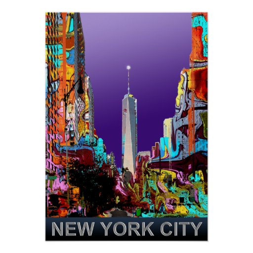 New York freedom tower Poster