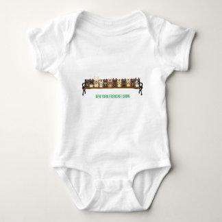 New York Frenchie Crew by French Bulldog Love Baby Bodysuit