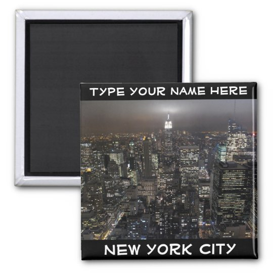 New York Fridge Magnet Personalised NYC Magnet