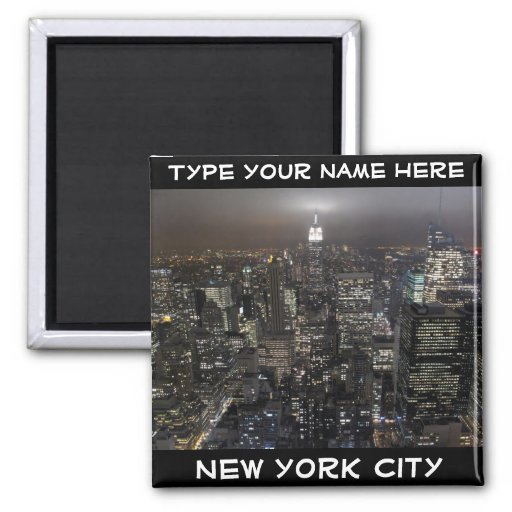 New York Fridge Magnet Personalized NYC Magnet