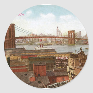 New York from Brooklyn Stickers