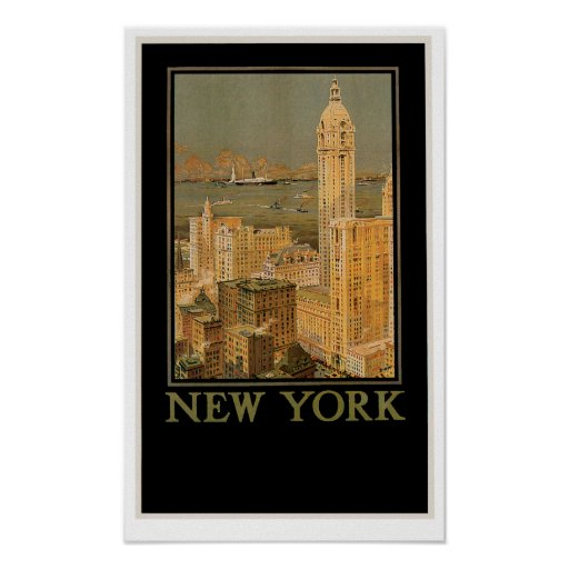 New York from Glasgow by the Anchor Line Poster