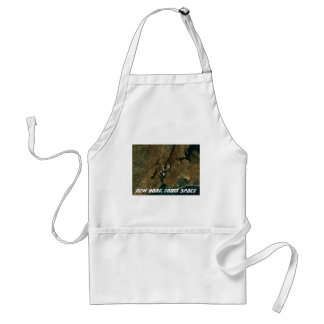 New York From Space Standard Apron