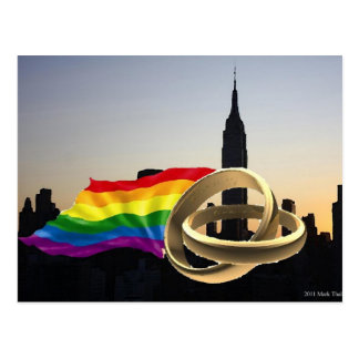 New York Gay Marriage! Postcard