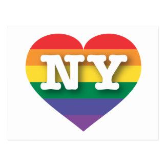 New York Gay Pride Rainbow Heart - Big Love Postcard