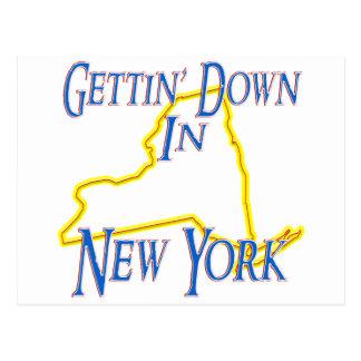 New York - Gettin' Down Postcard