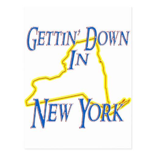 New York - Gettin' Down Post Card
