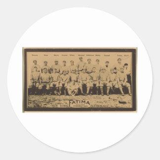 New York Giants 1913 Round Sticker