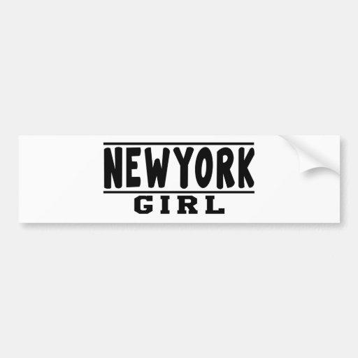 New York girl designs Bumper Sticker