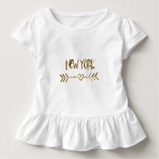 New York Gold Look Typography USA City Elegant Toddler T-Shirt