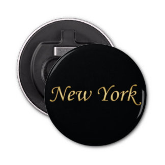 New York Gold - On Black Bottle Opener