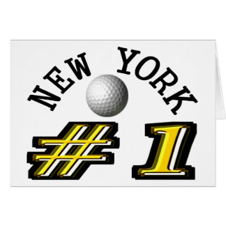New York Golf Number 1 Greeting Card