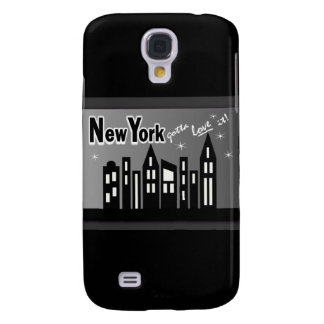 New York--Gotta Love It! With Cute Buildings Galaxy S4 Case
